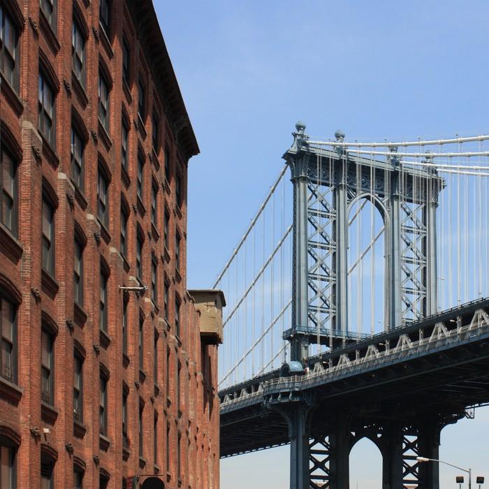 "Vinylová fototapeta ""Manhattan Bridge"" vu Dumbo (Brooklyn) - Vinylová fototapeta"