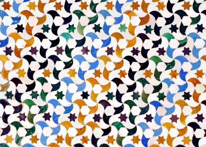 Vinylová Tapeta Alicatados, mozaiky, dlaždice, Alhambra v Granadě - iStaging