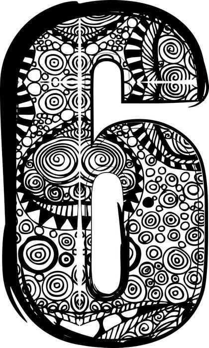Vinylová Tapeta Číslo 6 s abstraktní kresbou. Vektorové ilustrace - Témata