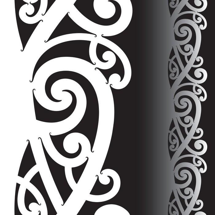 Maori Tattoo Designs Wallpaper: Maori Tattoo Pattern Wall Mural €� Pixers® €� We Live To Change