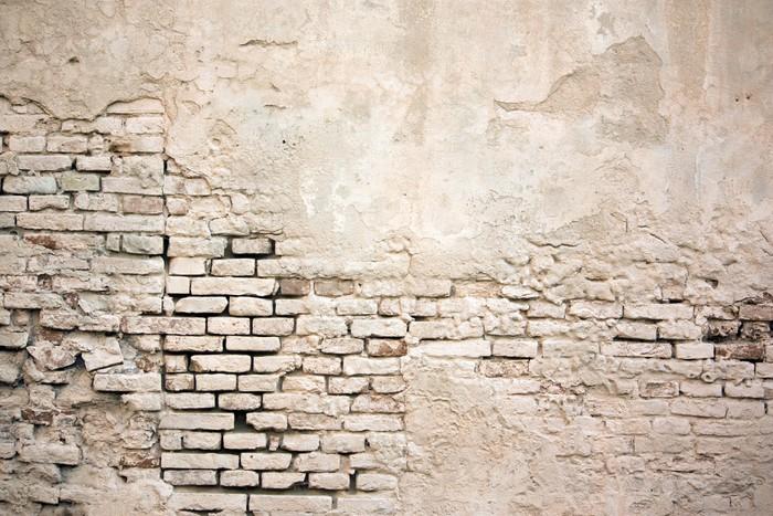 papier peint color mur de briques grunge vieille de stuc endommag pixers nous vivons pour. Black Bedroom Furniture Sets. Home Design Ideas