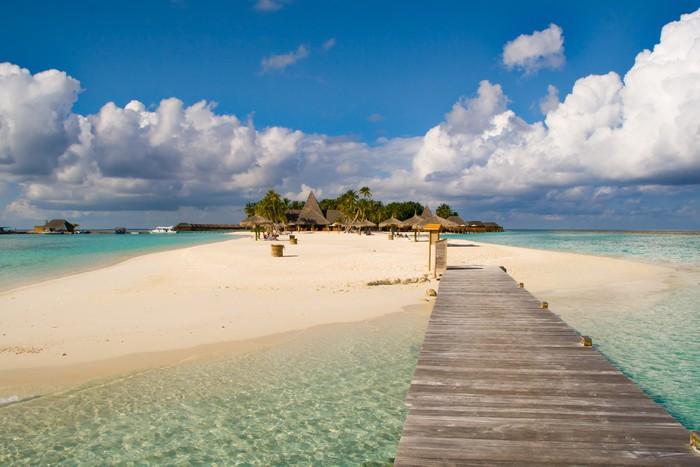 Vinylová Tapeta Ostrov z Maledivy - Ostrovy