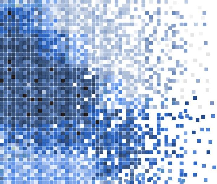 Papier peint r sum pixel bleu mosa que de fond de vecteur - Papier peint mosaique ...