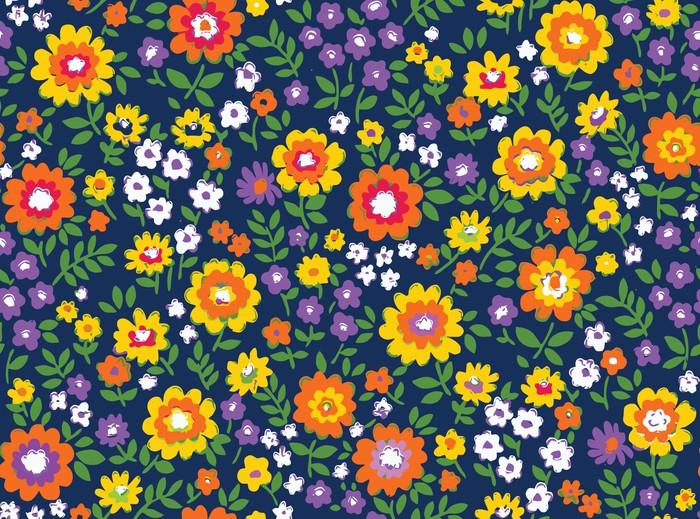 Vinylová Tapeta Květinové vektorové bezešvé pozadí složení - Květiny