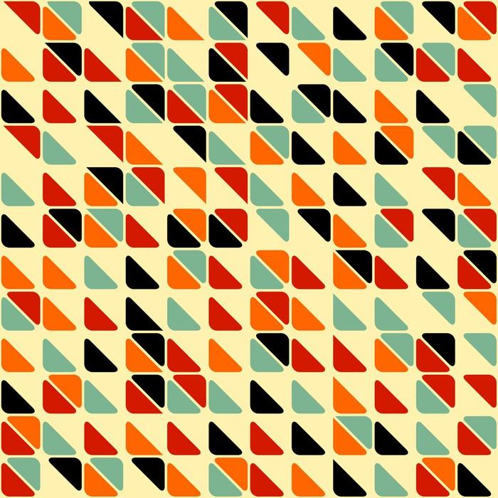 Papier peint retro abstract seamless pattern avec des triangles pixers nous vivons pour changer - Papier peint retro ...