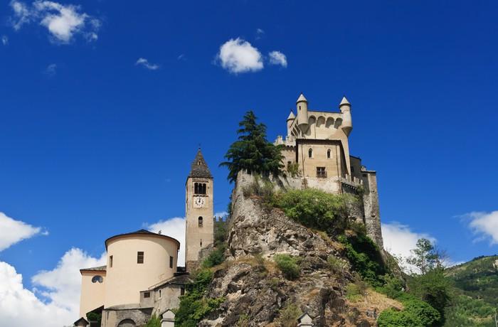 Vinylová Tapeta Saint Pierre zámek a kostel, Itálie - Evropa