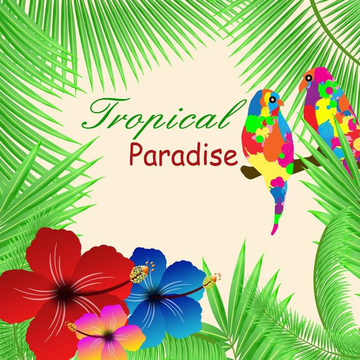Fototapete Tropisches Paradies Rahmen • Pixers® - Wir leben, um zu ...