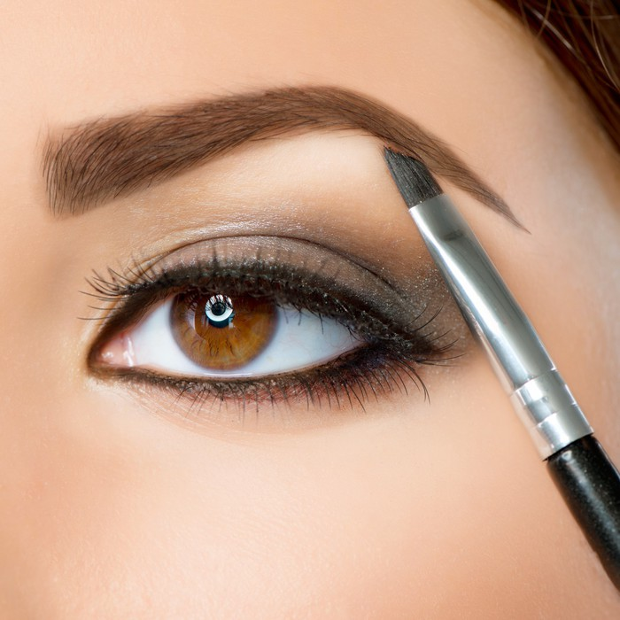 Make-up. Eyebrow Makeup. Brown Eyes Wall Mural • Pixers® • We live ...