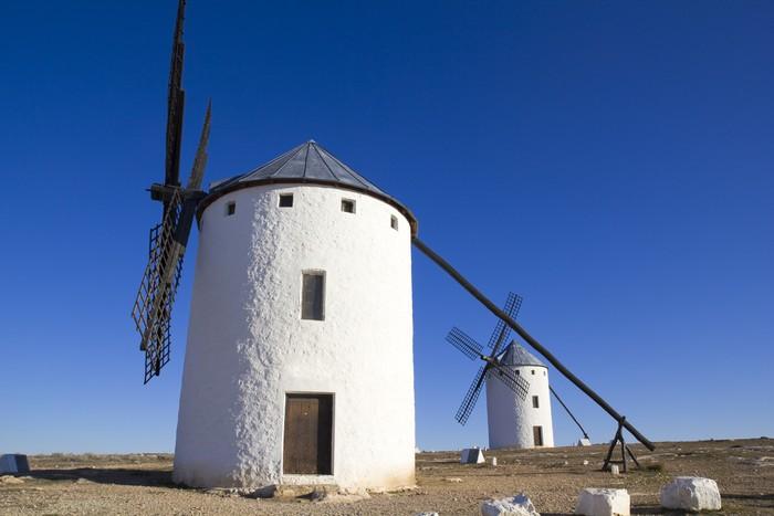 Vinylová Tapeta Kastilie-La Mancha, Španělsko. Větrné mlýny Dona Quijota - Zemědělství