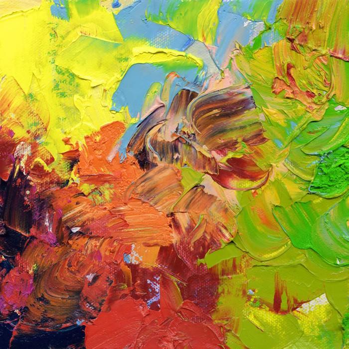 Nálepka Pixerstick Olejová barva hustě pomalované a nátěrem - Umění a tvorba