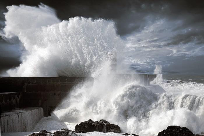 Vinylová Tapeta North Atlantic bouřlivé vlny - Voda