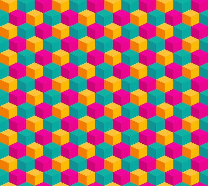Vinylová Tapeta Abstrakt bezešvé stylizovaný kov krychle pozadí - Styly