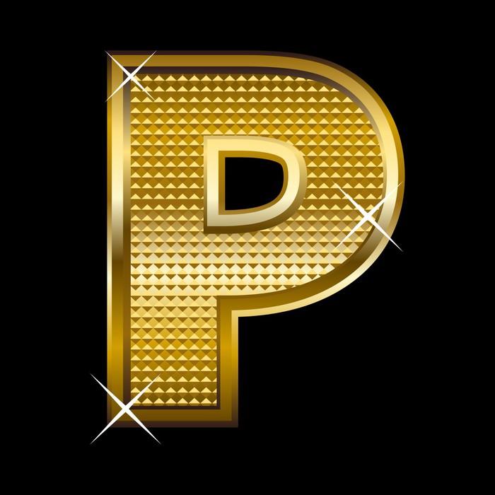 Carta da parati tipo di font oro lettera p pixers viviamo per carta da parati in vinile tipo di font oro lettera p temi altavistaventures Choice Image