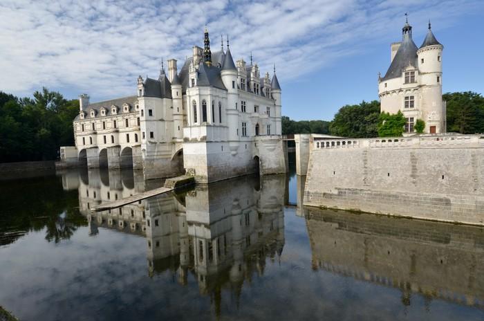Papel Pintado Estándar Camine hasta el castillo de Chenonceau - Vacaciones