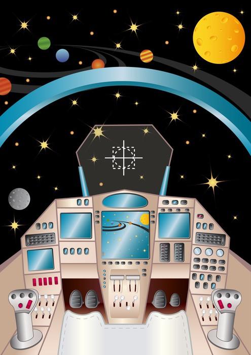 sticker int rieur vaisseau spatial dans l 39 univers pixers. Black Bedroom Furniture Sets. Home Design Ideas