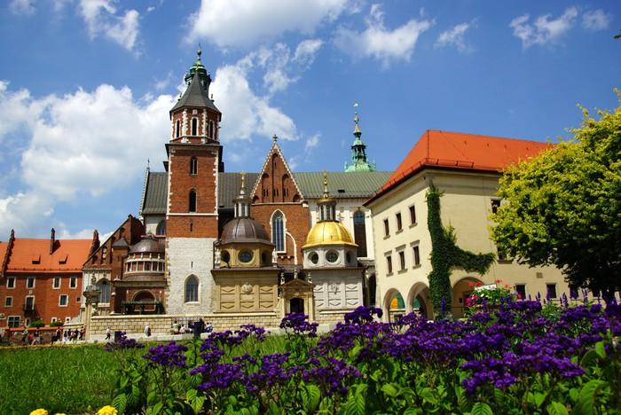 Vinylová fototapeta Katedrála Wawel, Wawel Hill v Krakově - Vinylová fototapeta