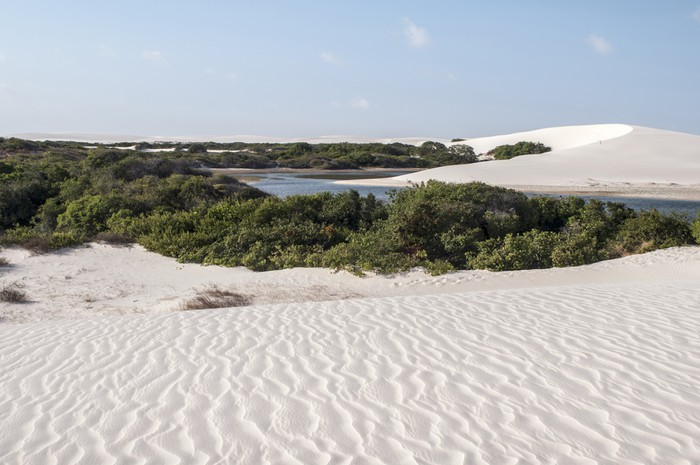 Vinylová Tapeta Písečné duny Lencois Maranheses v Brazílii - Amerika