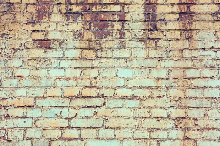 Carta da parati vecchio muro di mattoni pixers for Carta da parati effetto muro mattoni