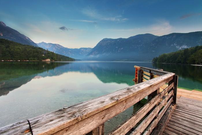 Vinylová Tapeta Krásný výhled. Lake, hory, jezera Bohinj. Slovinsko - Hory
