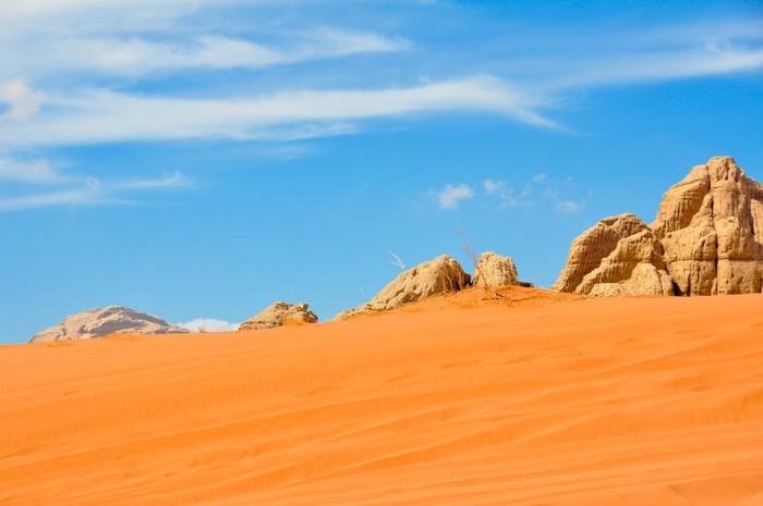 Vinylová Tapeta Desierto de Wadi Rum, Jordánsko - Asie