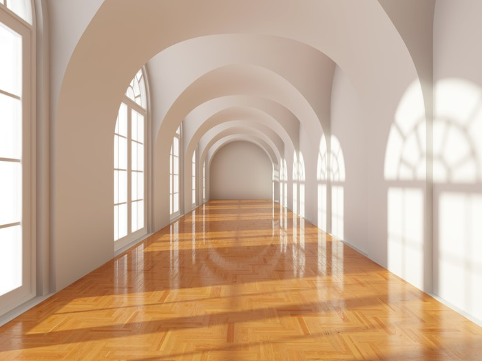 Vinilo pixerstick largo pasillo moderno pixers for Vinilos pared pasillo