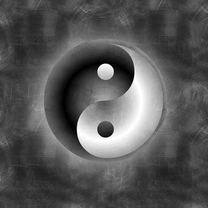 Vinylová Tapeta Yin Yang 1 - Značky a symboly