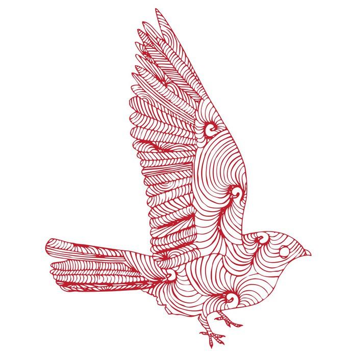 papier peint oiseau qui vole pixers nous vivons pour changer. Black Bedroom Furniture Sets. Home Design Ideas