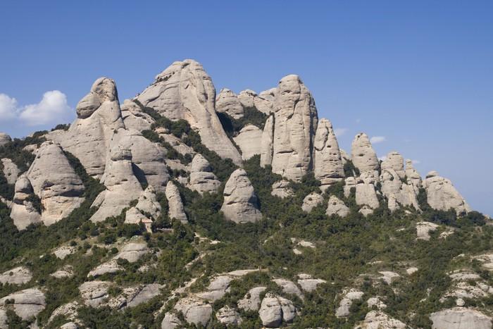 Vinylová Tapeta Montserrat Mountain - Témata
