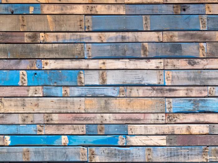 tableau sur toile grungy peinte en bleu planches de bois. Black Bedroom Furniture Sets. Home Design Ideas