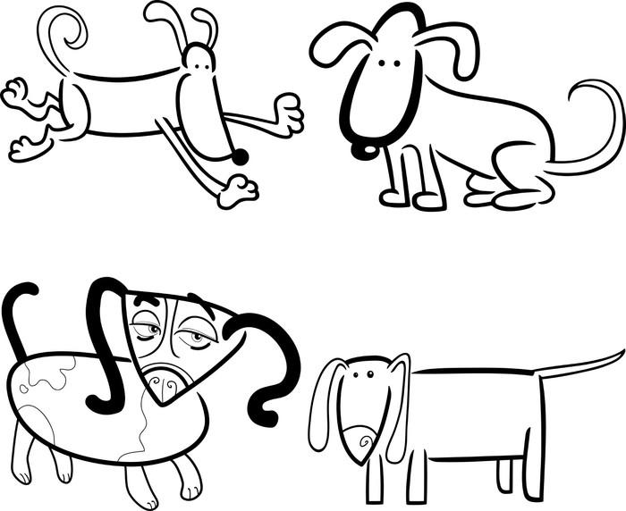 Vinilo Pixerstick Perros o cachorros para colorear • Pixers ...