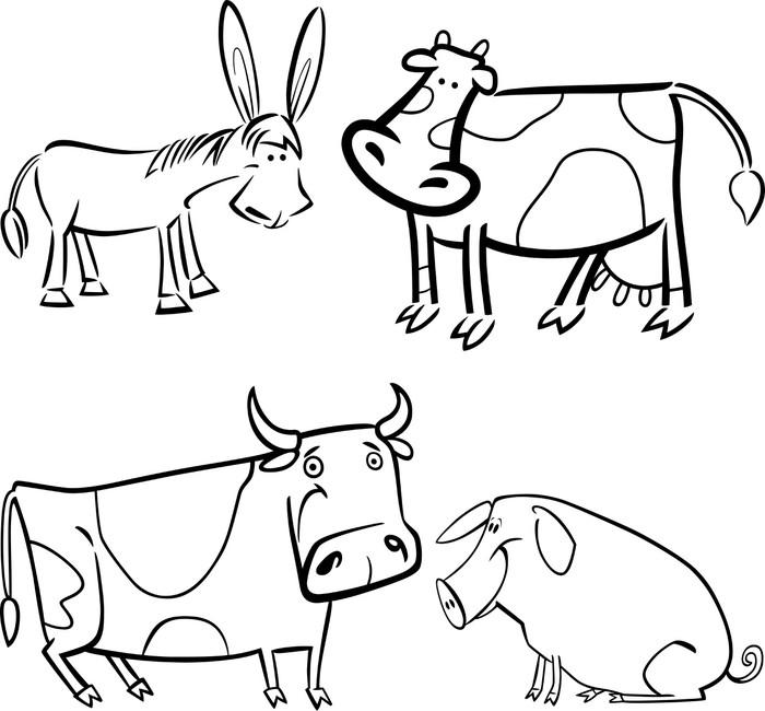 Leinwandbild Nutztiere Färbung eingestellt • Pixers® - Wir leben, um ...
