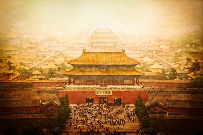 Vinylová Tapeta Zakázané město vinobraní pohled, Beijing, China - Asijská města