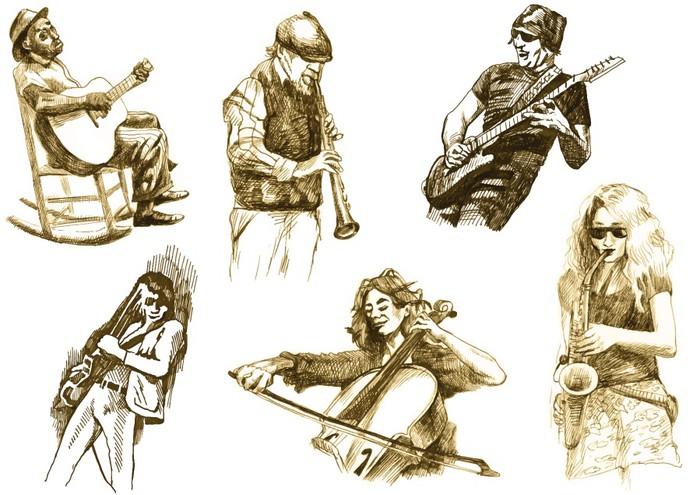 Vinilo pixerstick m sicos con instrumentos musicales for Vinilos decorativos instrumentos musicales