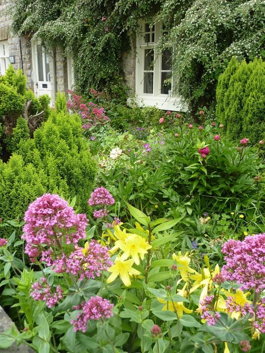 Carta da Parati Vista Cartolina del inglesi giardini terrazzati ...