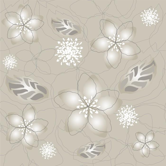Vinilo pixerstick seamless gris plata flor papel pintado - Papel pintado gris y plata ...