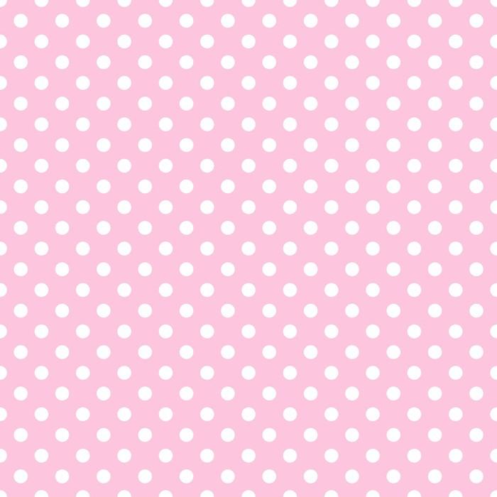 Papier peint pois blanc sur rose p le pixers nous vivons pour changer - Papier peint pois ...
