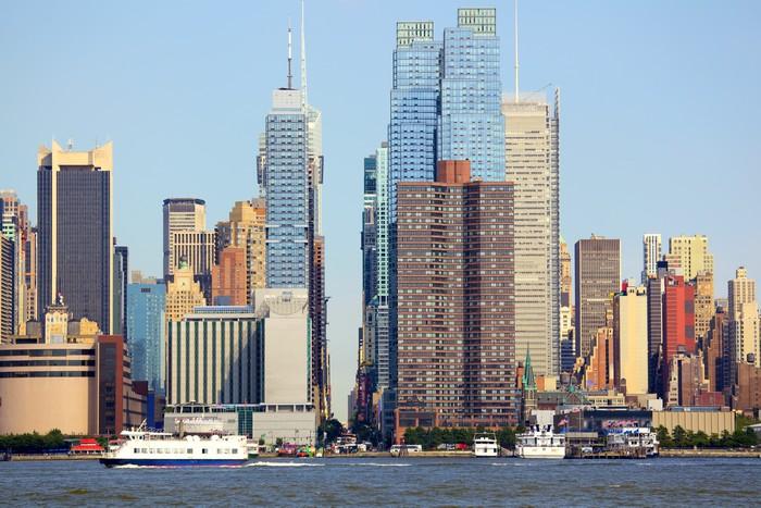 Vinylová Tapeta Manhattan panorama podél 42. ulice, New York - Americká města