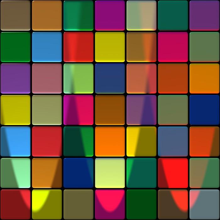 Papier peint carrelage multicolore pixers nous for Carrelage 02