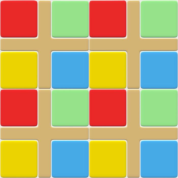 sticker carrelage multicolore pixers nous vivons. Black Bedroom Furniture Sets. Home Design Ideas