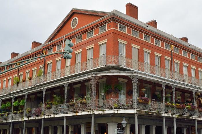 Vinylová Tapeta Historisches Gebäude im French Quarter von New Orleans - Amerika