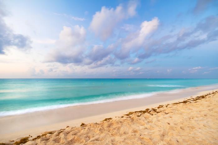 Vinylová Tapeta Karibik pláž v Playacar Mexika - Prázdniny