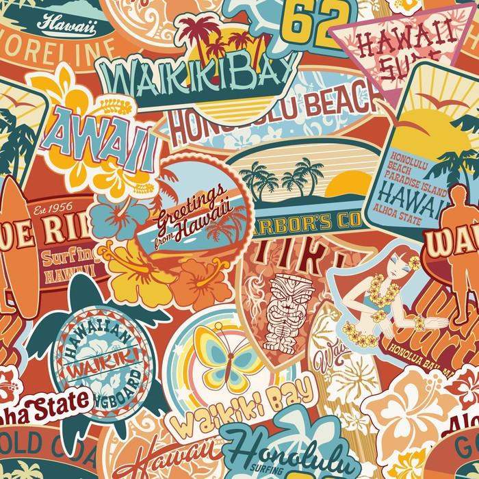Vinylová Tapeta Hawaii samolepky patchwork bezešvé vzor - Prázdniny