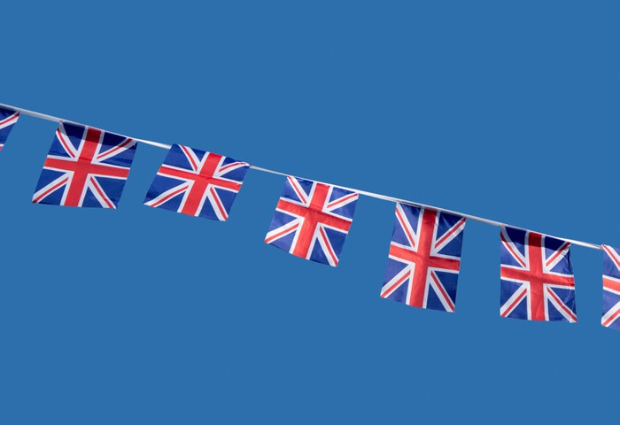 Small British Union Jack celebration flags. Vinyl Wallpaper - Signs and Symbols