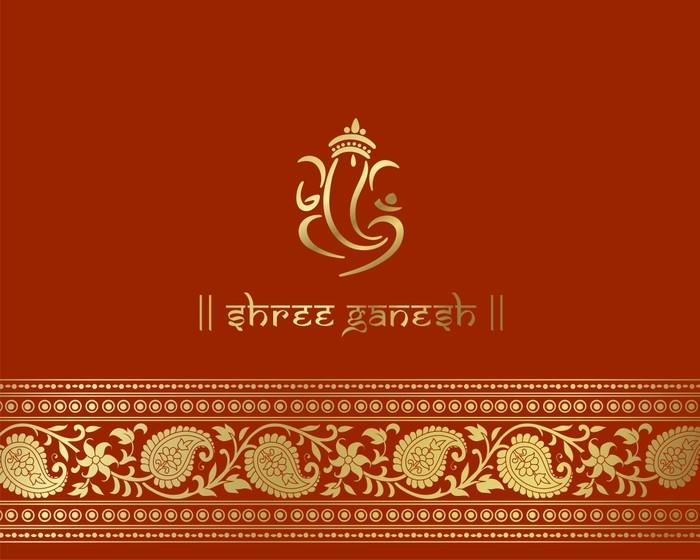 Nálepka Pixerstick Ganesha, hinduistické svatební oznámení, královský Rajasthan, India - Slavnosti