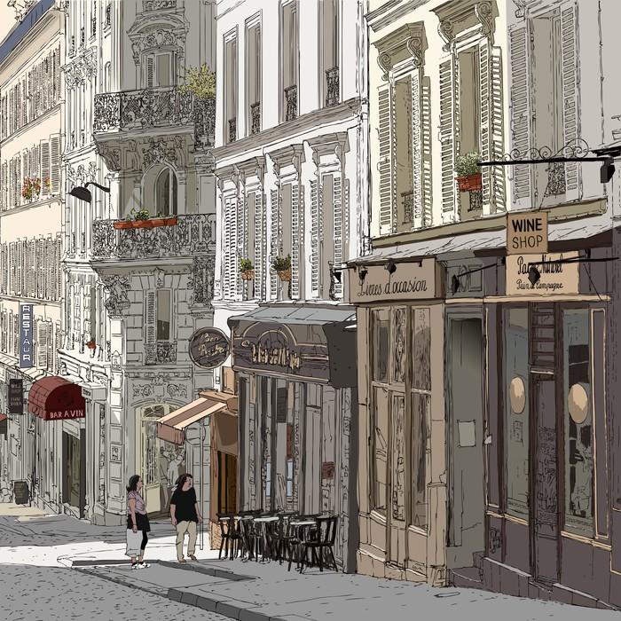 Naklejka Pixerstick Ulica w Montmartre - Tematy