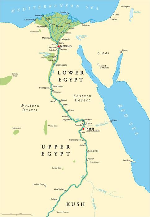 Fototapete Das alte Ägypten Karte (Altes Ägypten Landkarte) • Pixers® - Wir leben, um zu verändern