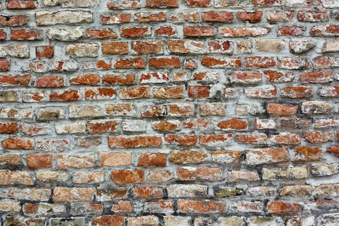backsteinmauer verwittert vinyl wall mural themes selber bauen