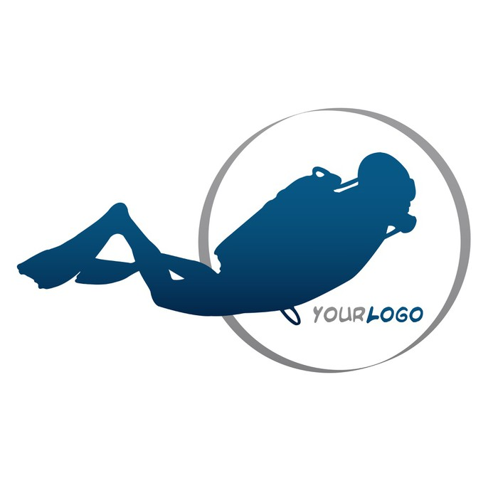 Aufkleber Tauchen Logo • Pixers® - Wir leben, um zu verändern