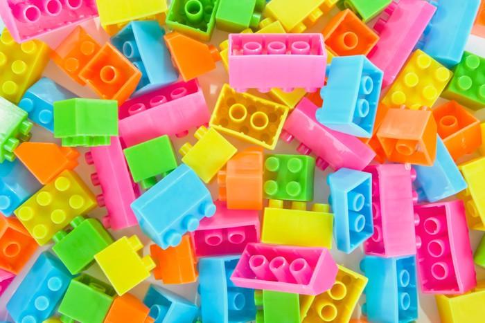 papier peint fond de jouets de briques en plastique pixers nous vivons pour changer. Black Bedroom Furniture Sets. Home Design Ideas