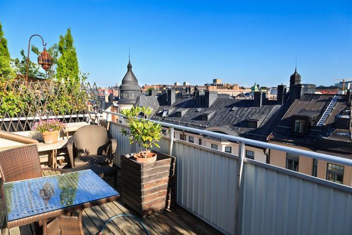 Carta da Parati Terrazza sul tetto, Stoccolma • Pixers® - Viviamo ...
